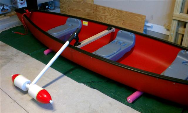 For canoe folks rigging a canoe for fishing done cheap for Fishing kayak mods